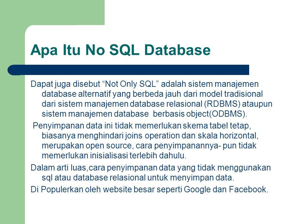 Apa Itu No SQL Database