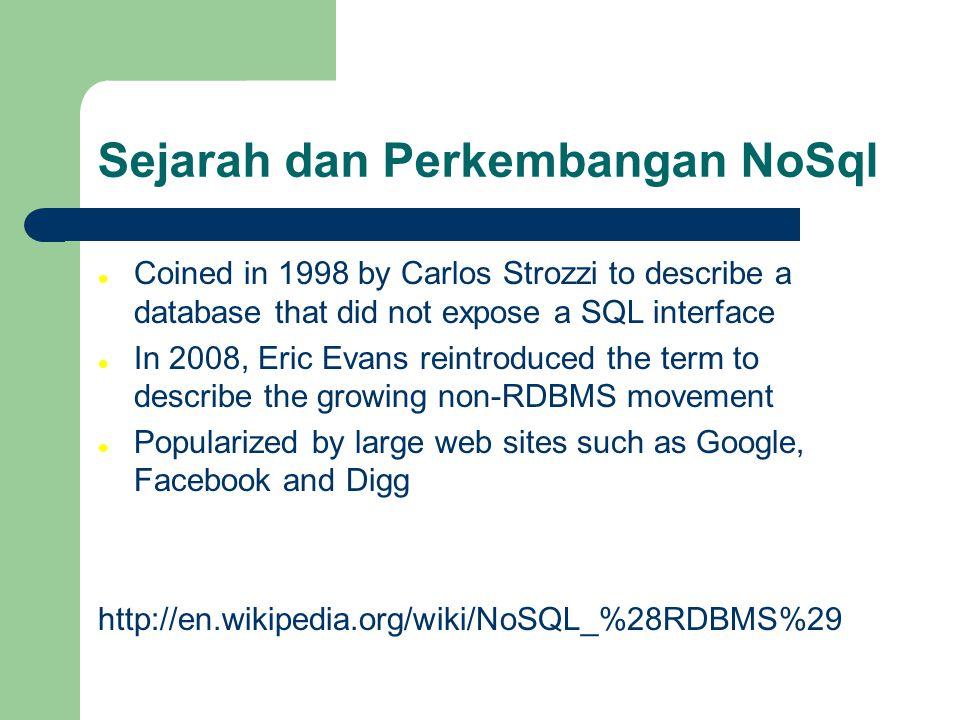Sejarah dan Perkembangan NoSql