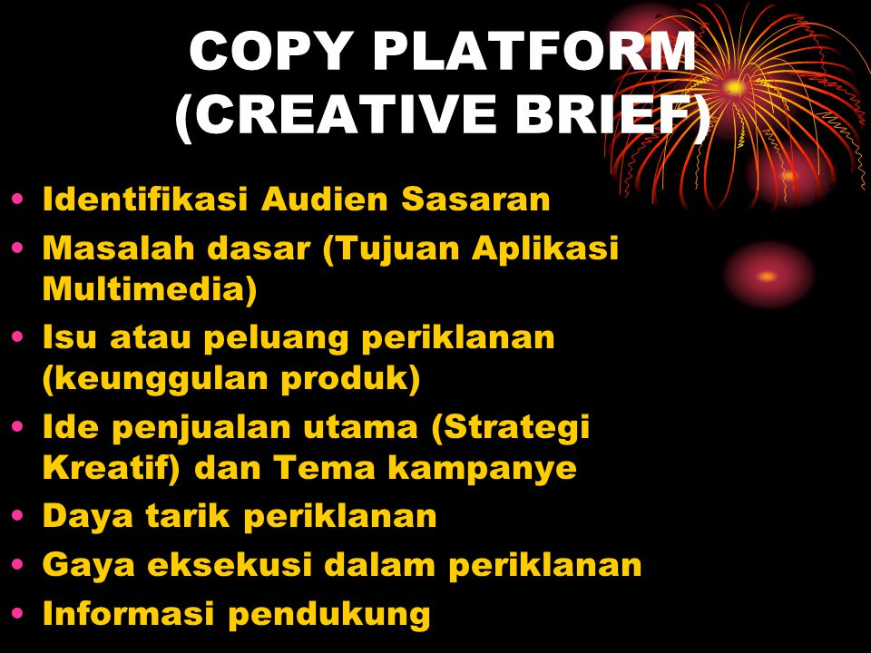 COPY PLATFORM (CREATIVE BRIEF)