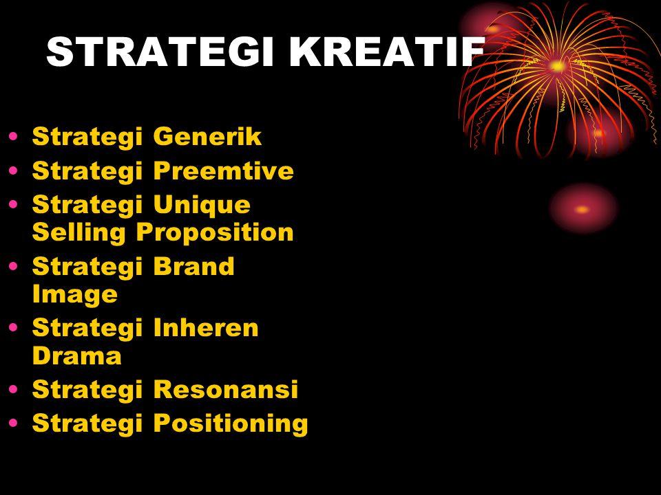 STRATEGI KREATIF Strategi Generik Strategi Preemtive
