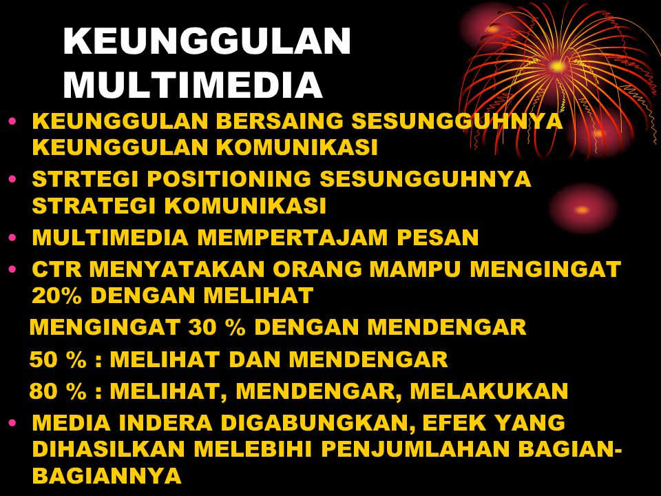 KEUNGGULAN MULTIMEDIA