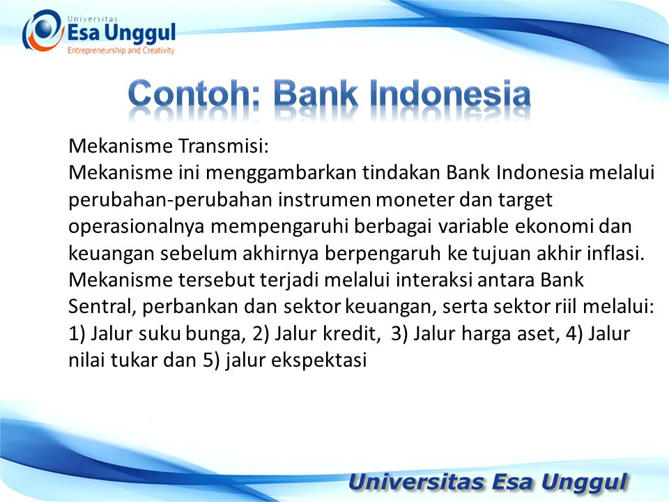 Contoh: Bank Indonesia