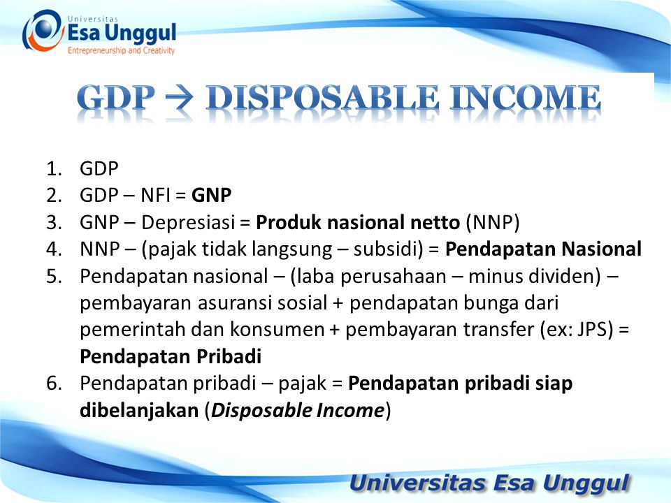 Gdp  disposable income