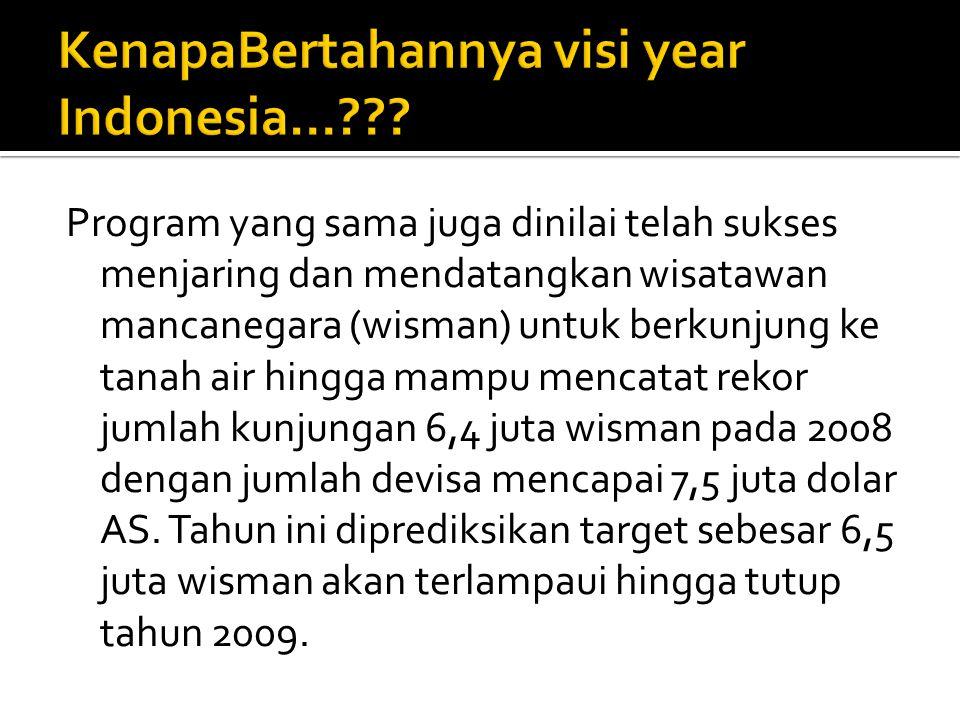 KenapaBertahannya visi year Indonesia...