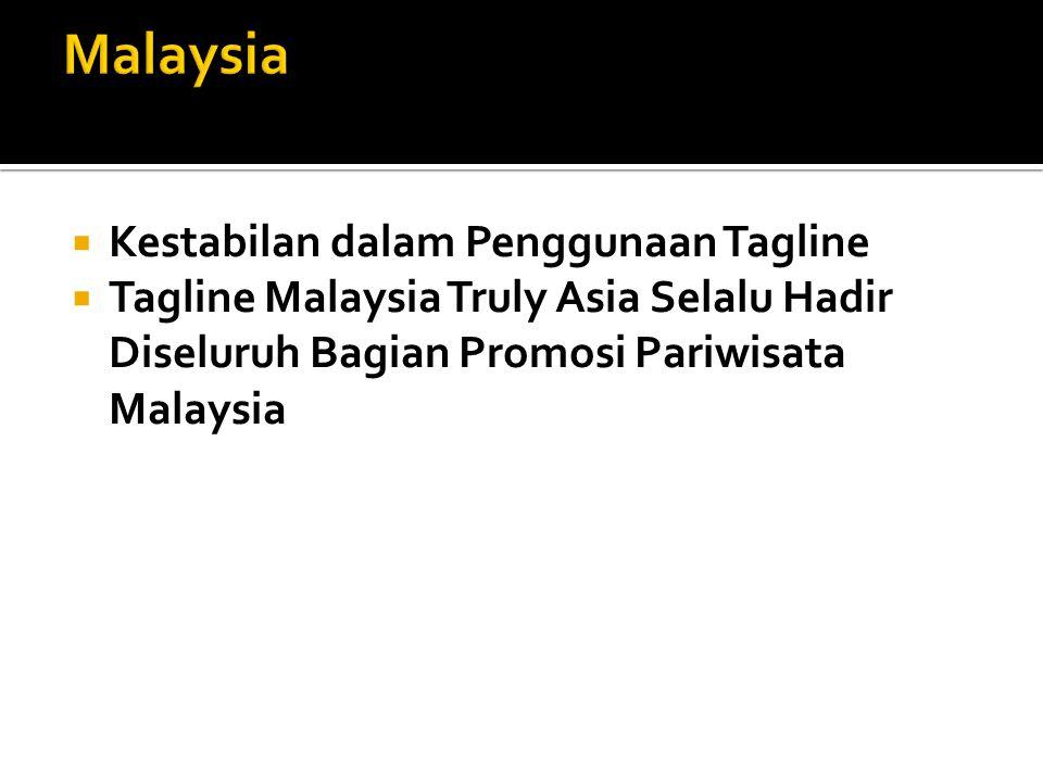 Malaysia Kestabilan dalam Penggunaan Tagline