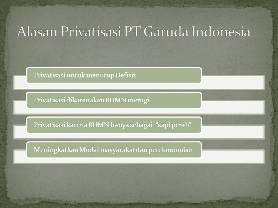 Alasan Privatisasi PT Garuda Indonesia