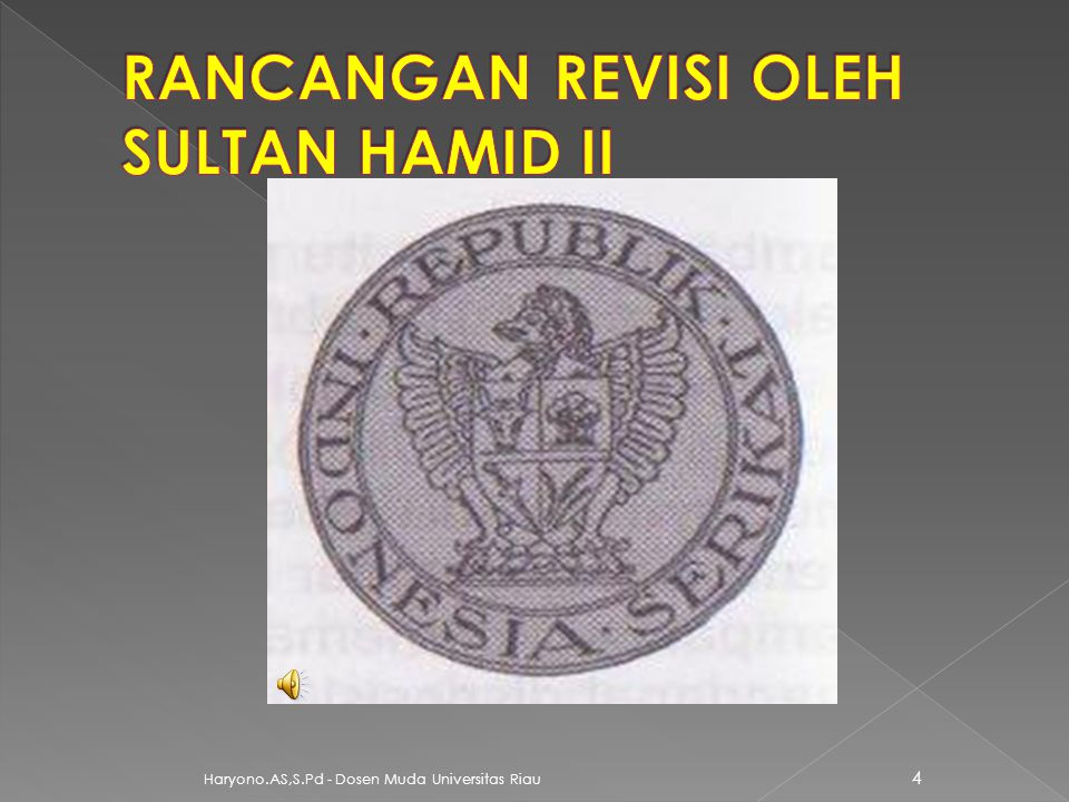 RANCANGAN REVISI OLEH SULTAN HAMID II