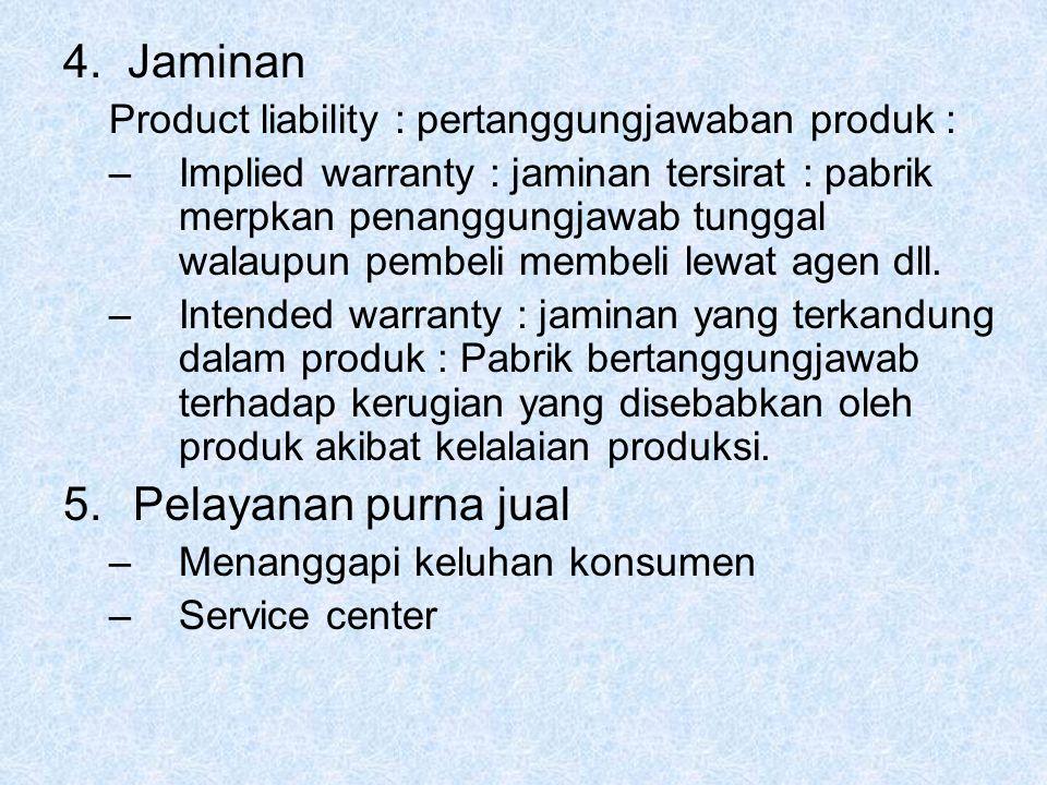 4. Jaminan Pelayanan purna jual
