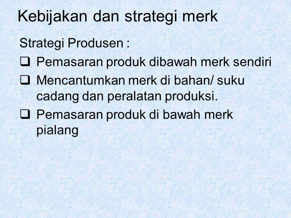 Kebijakan dan strategi merk