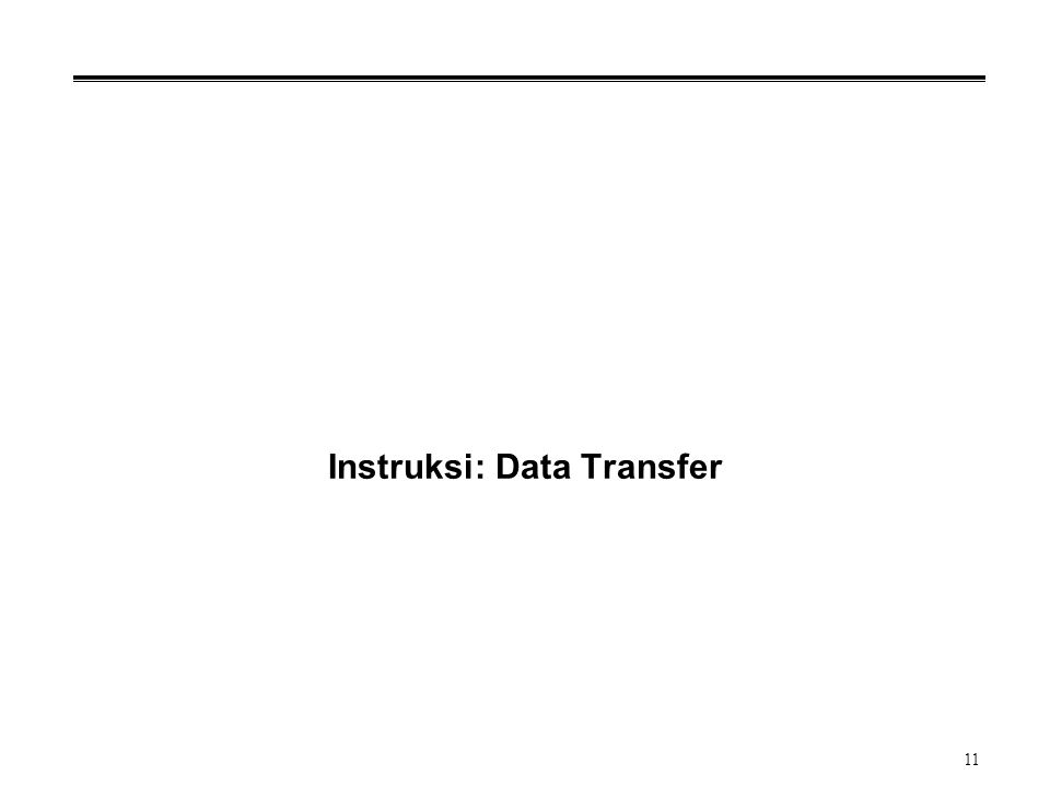 Instruksi: Data Transfer