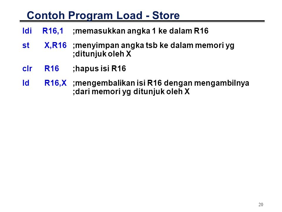 Contoh Program Load - Store
