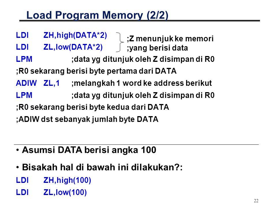 Load Program Memory (2/2)