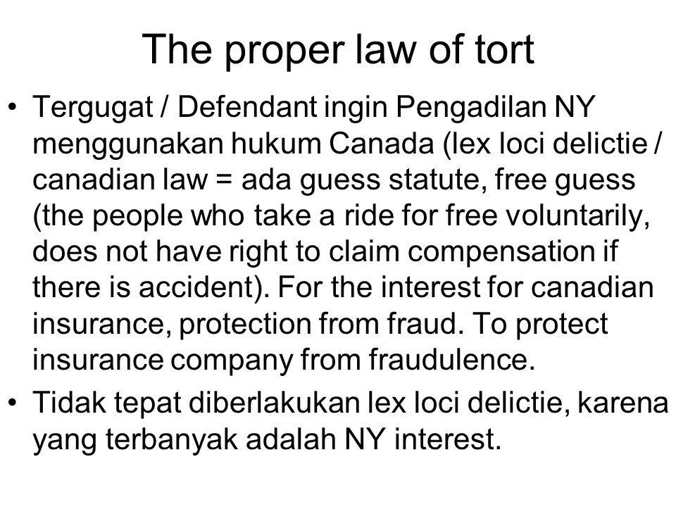 The proper law of tort