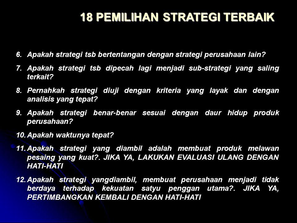 18 PEMILIHAN STRATEGI TERBAIK