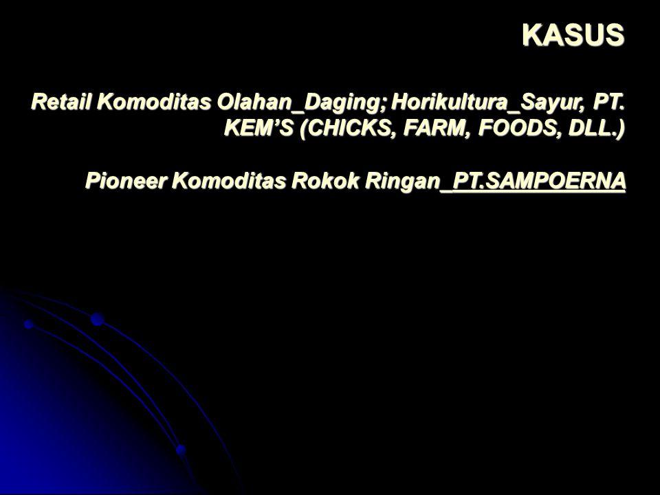 KASUS Retail Komoditas Olahan_Daging; Horikultura_Sayur, PT