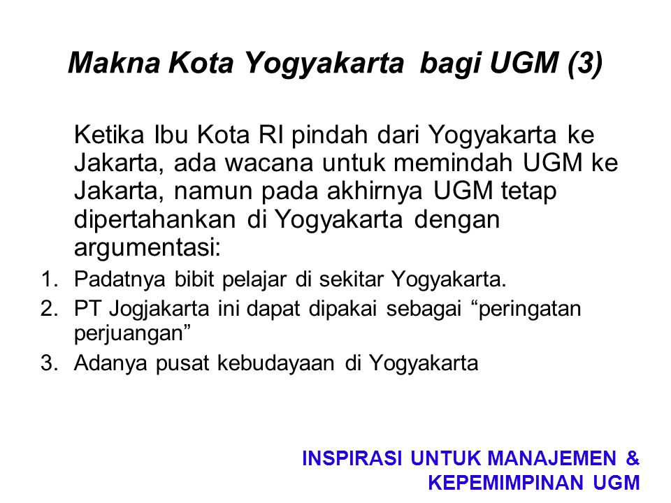 Makna Kota Yogyakarta bagi UGM (3)