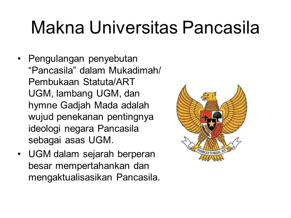 Makna Universitas Pancasila