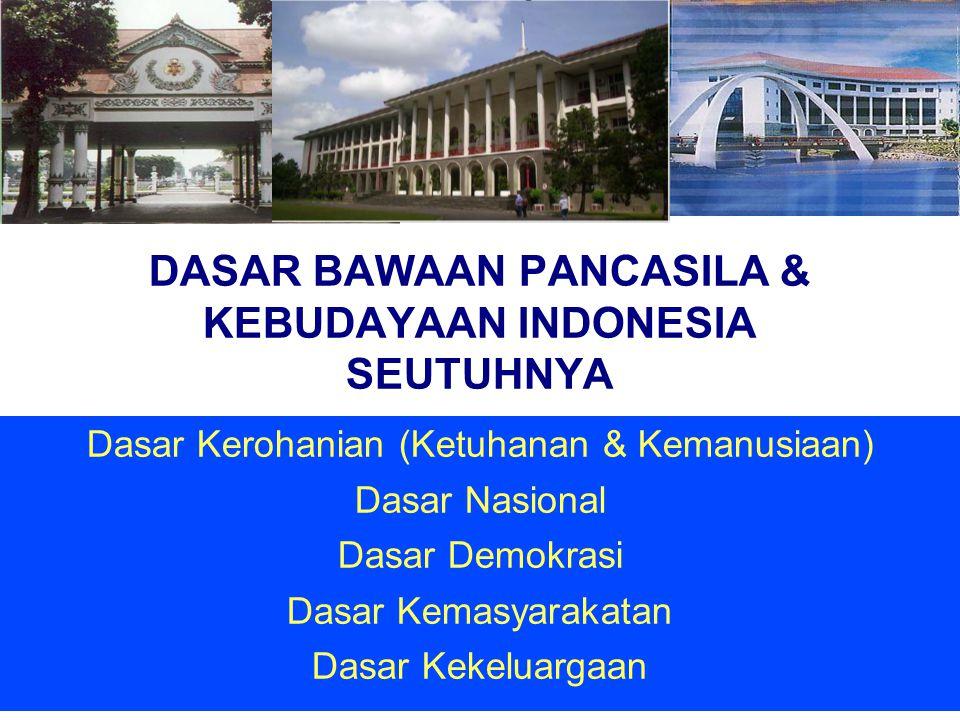 DASAR BAWAAN PANCASILA & KEBUDAYAAN INDONESIA SEUTUHNYA