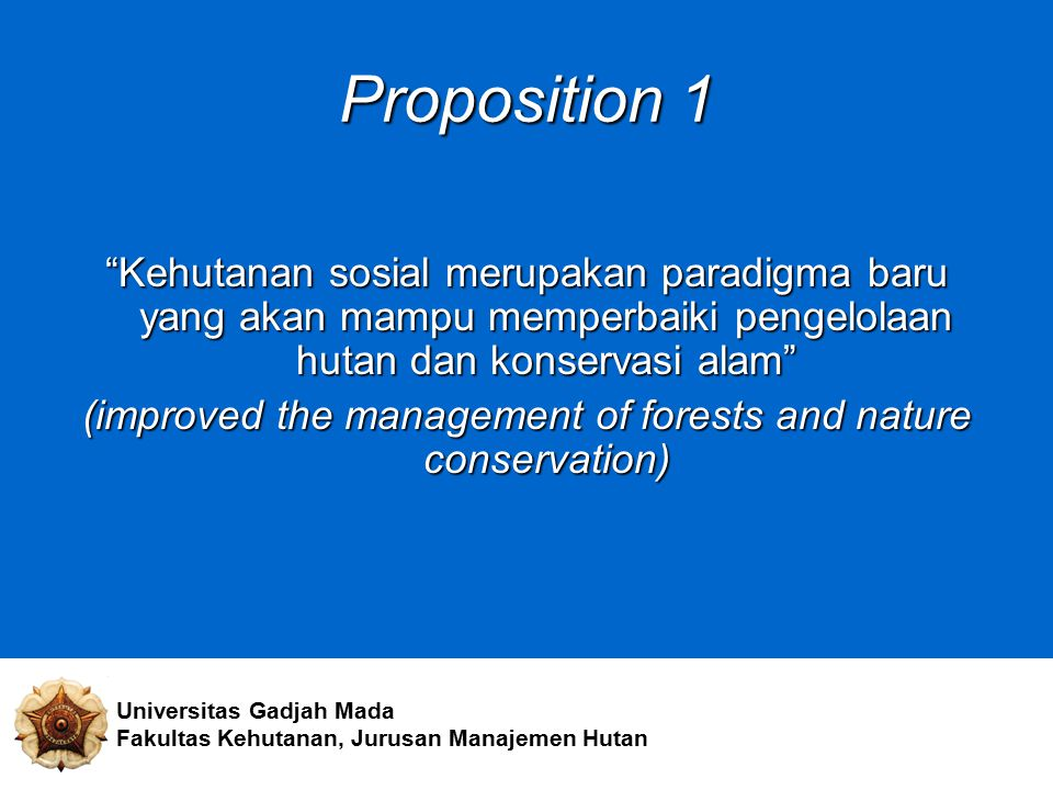 (improved the management of forests and nature conservation)