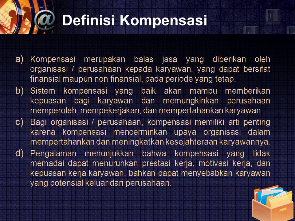 Definisi Kompensasi