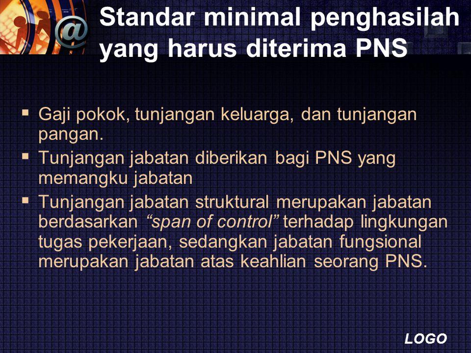 Standar minimal penghasilah yang harus diterima PNS