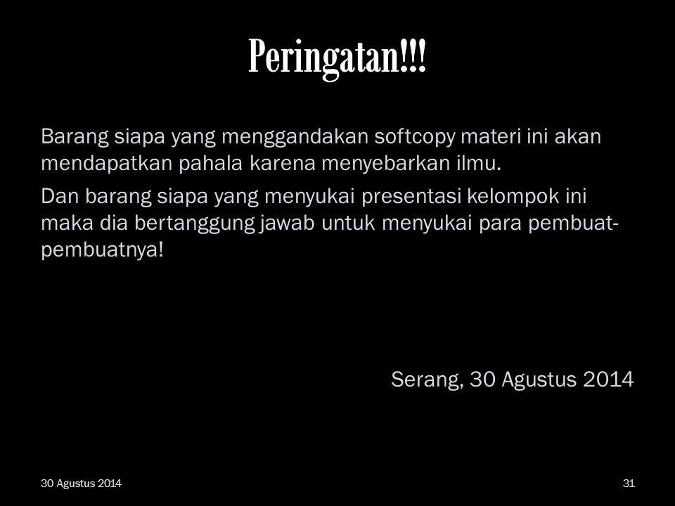 Peringatan!!!