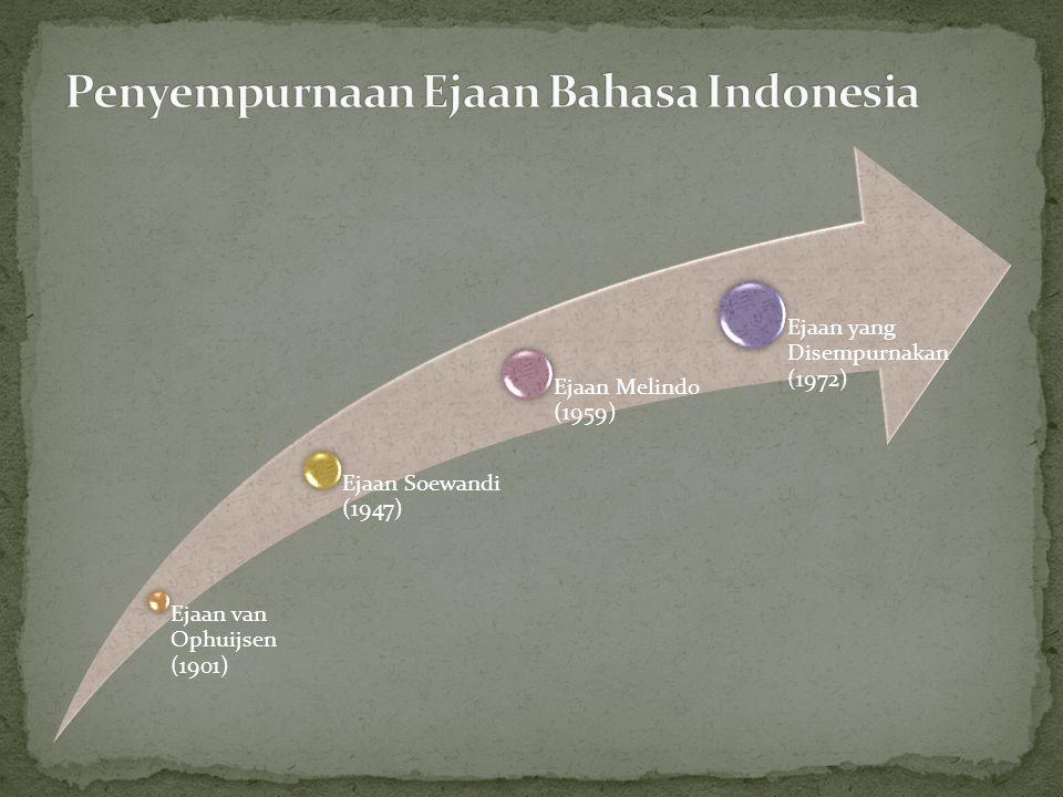 Penyempurnaan Ejaan Bahasa Indonesia