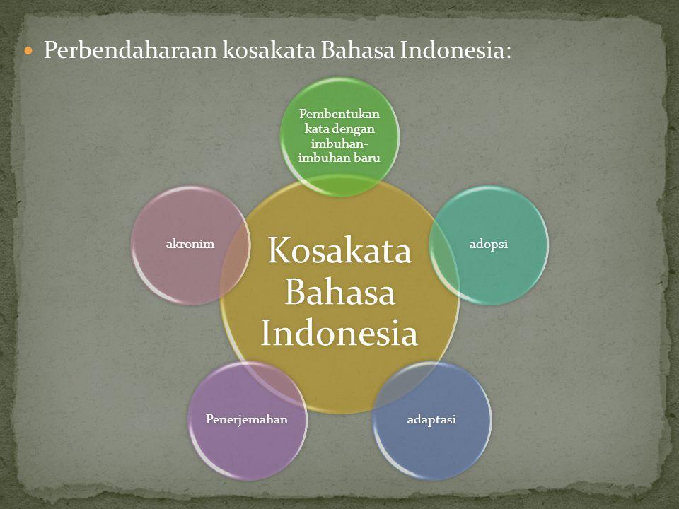 Perbendaharaan kosakata Bahasa Indonesia: