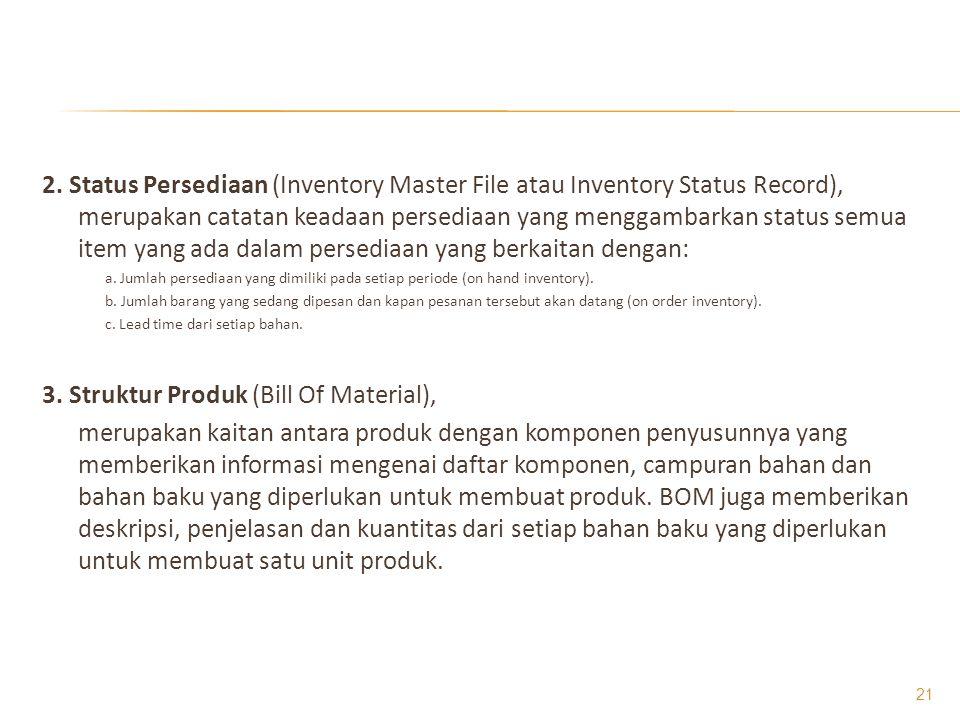 3. Struktur Produk (Bill Of Material),