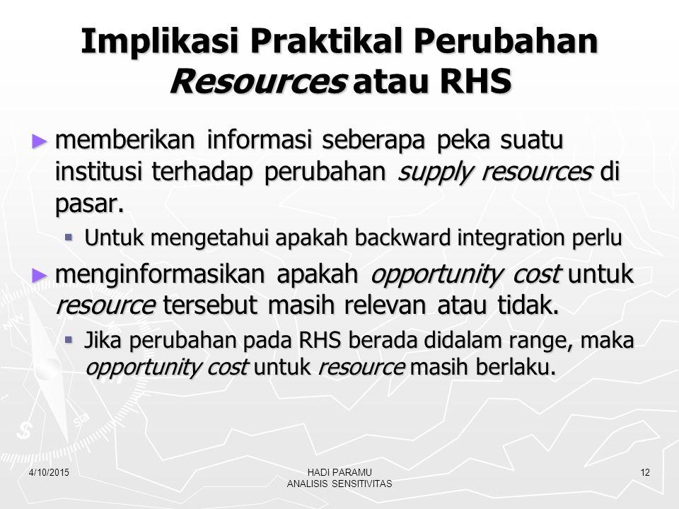 Implikasi Praktikal Perubahan Resources atau RHS