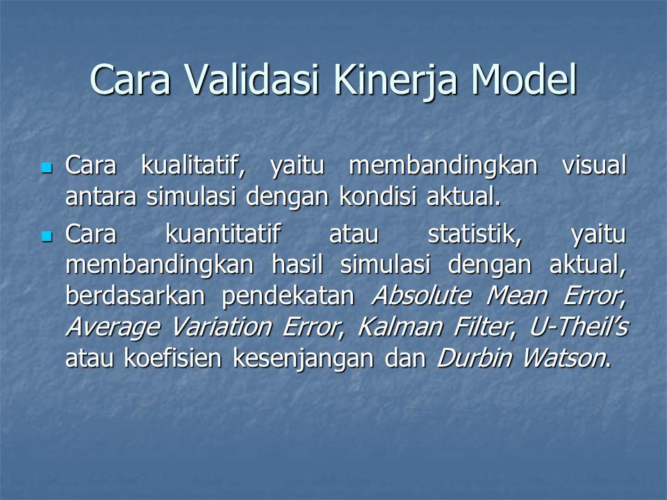 Cara Validasi Kinerja Model