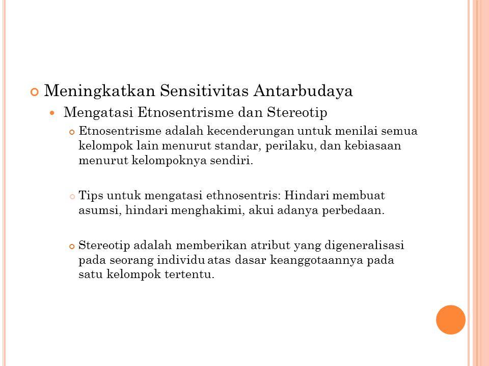 Meningkatkan Sensitivitas Antarbudaya