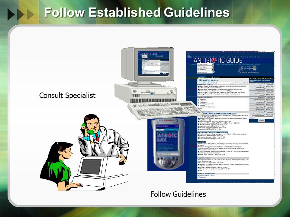 Follow Established Guidelines