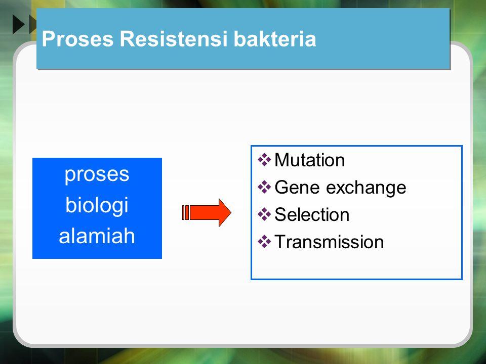 Proses Resistensi bakteria