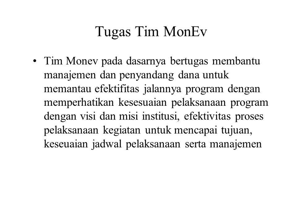 Tugas Tim MonEv