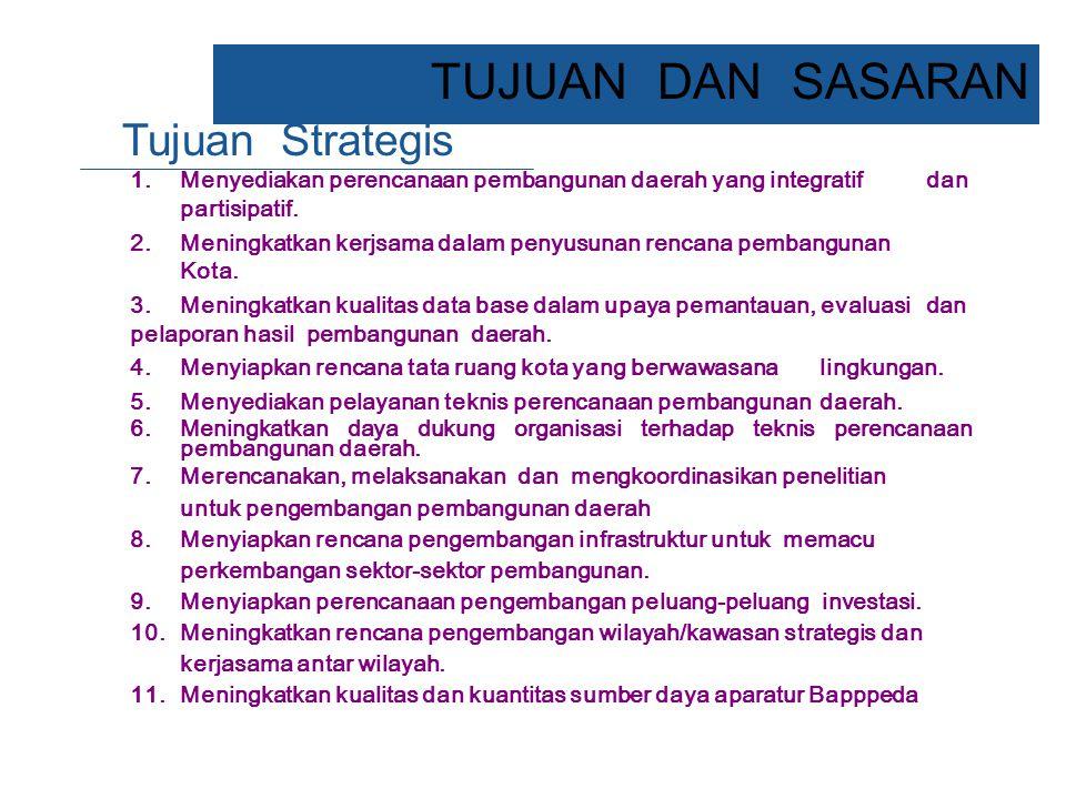 TUJUAN DAN SASARAN Tujuan Strategis