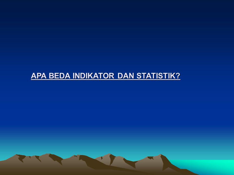 APA BEDA INDIKATOR DAN STATISTIK