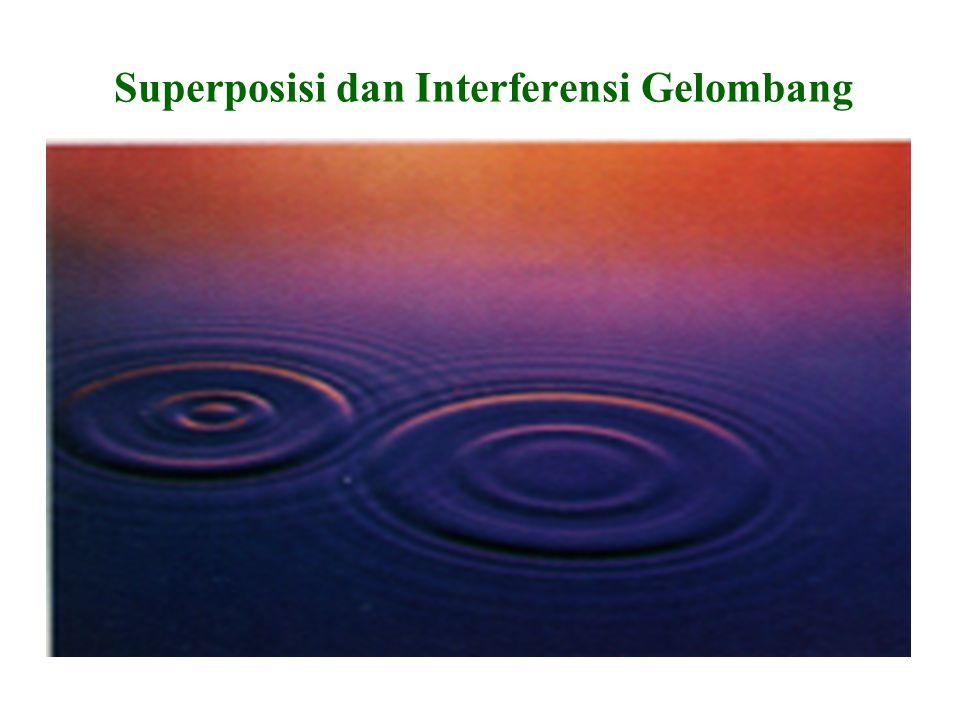 Superposisi dan Interferensi Gelombang