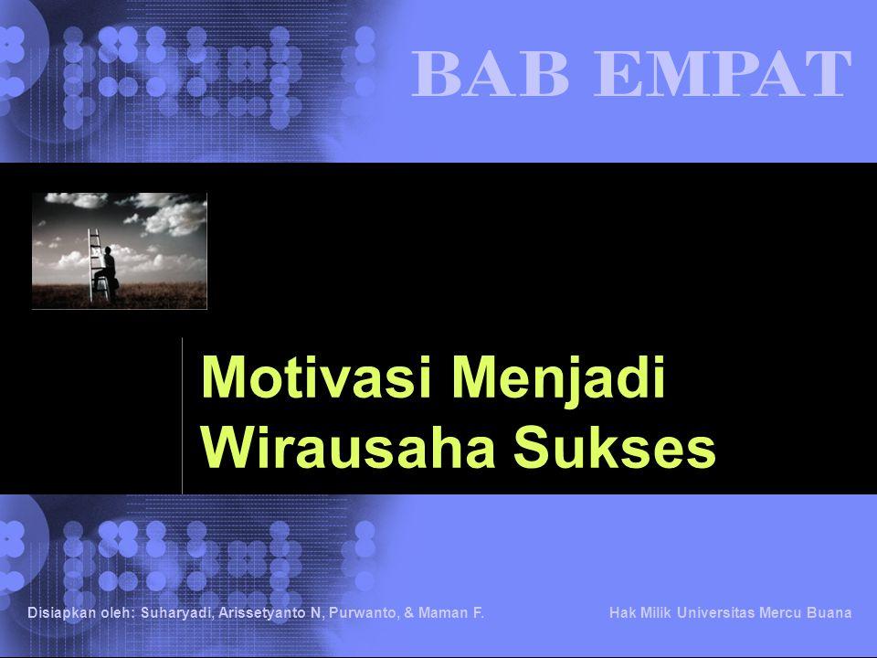 Motivasi Menjadi Wirausaha Sukses