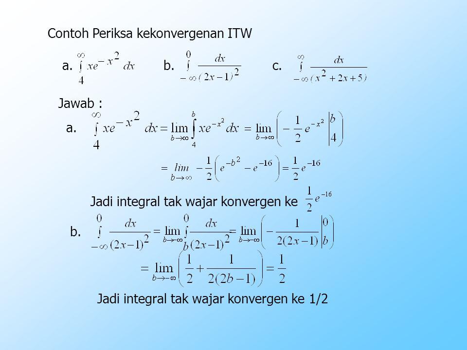 Contoh Periksa kekonvergenan ITW