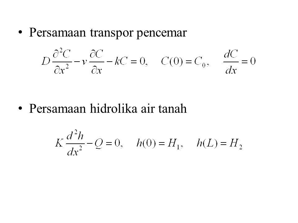 Persamaan transpor pencemar