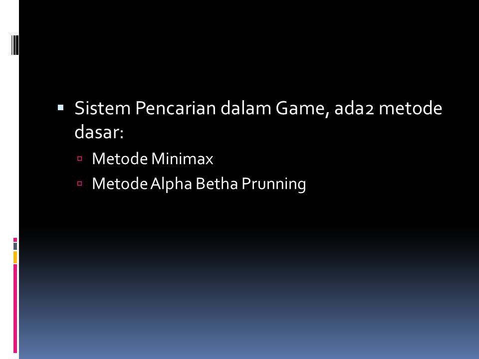 Sistem Pencarian dalam Game, ada2 metode dasar: