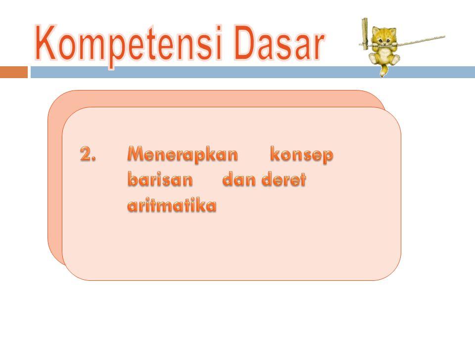 Kompetensi Dasar 2. Menerapkan konsep barisan dan deret aritmatika
