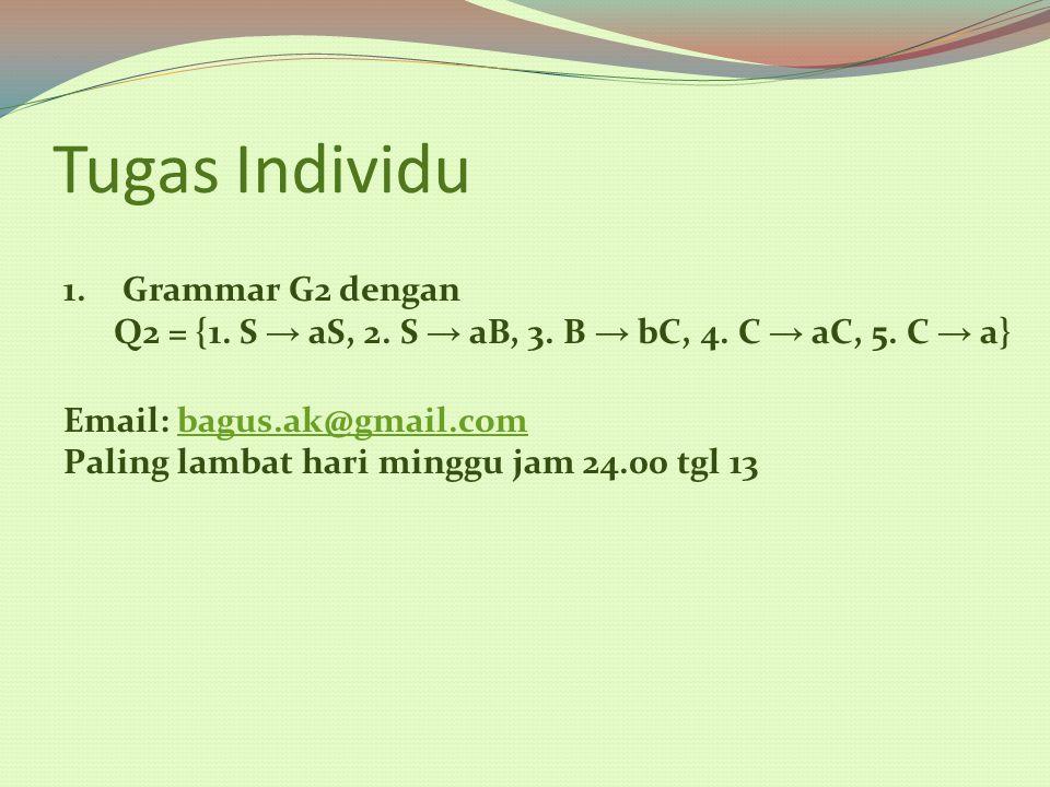 Tugas Individu Grammar G2 dengan