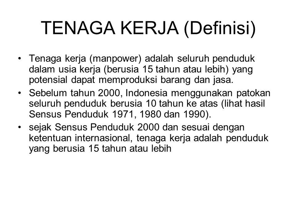 TENAGA KERJA (Definisi)