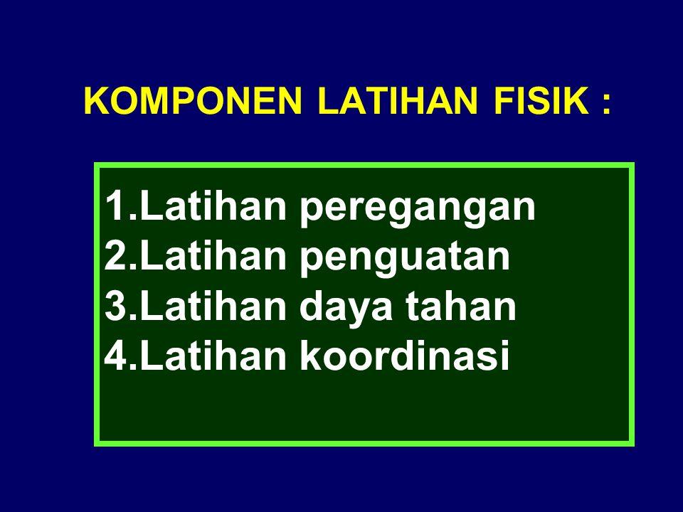 KOMPONEN LATIHAN FISIK :