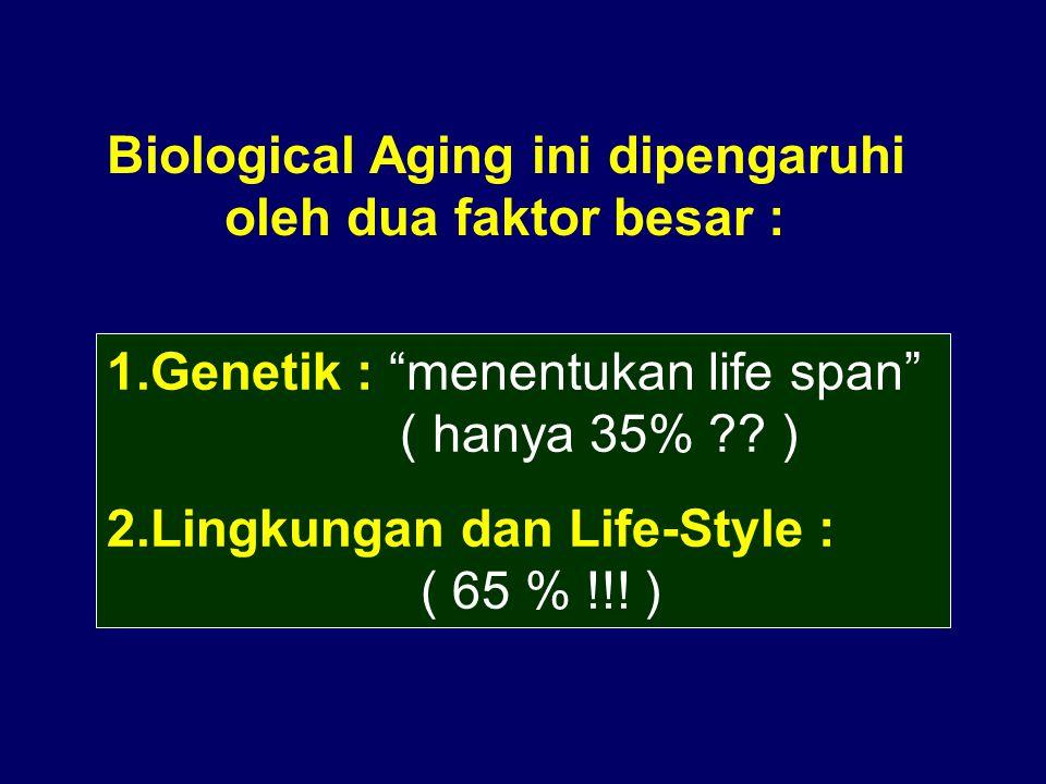 Biological Aging ini dipengaruhi oleh dua faktor besar :