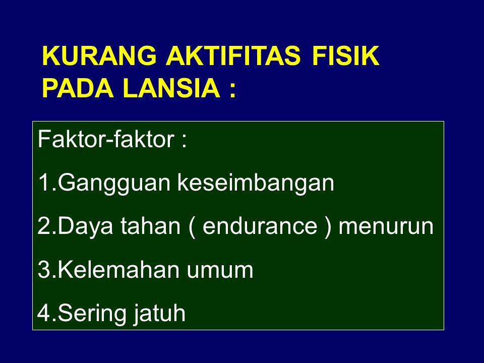 KURANG AKTIFITAS FISIK PADA LANSIA :