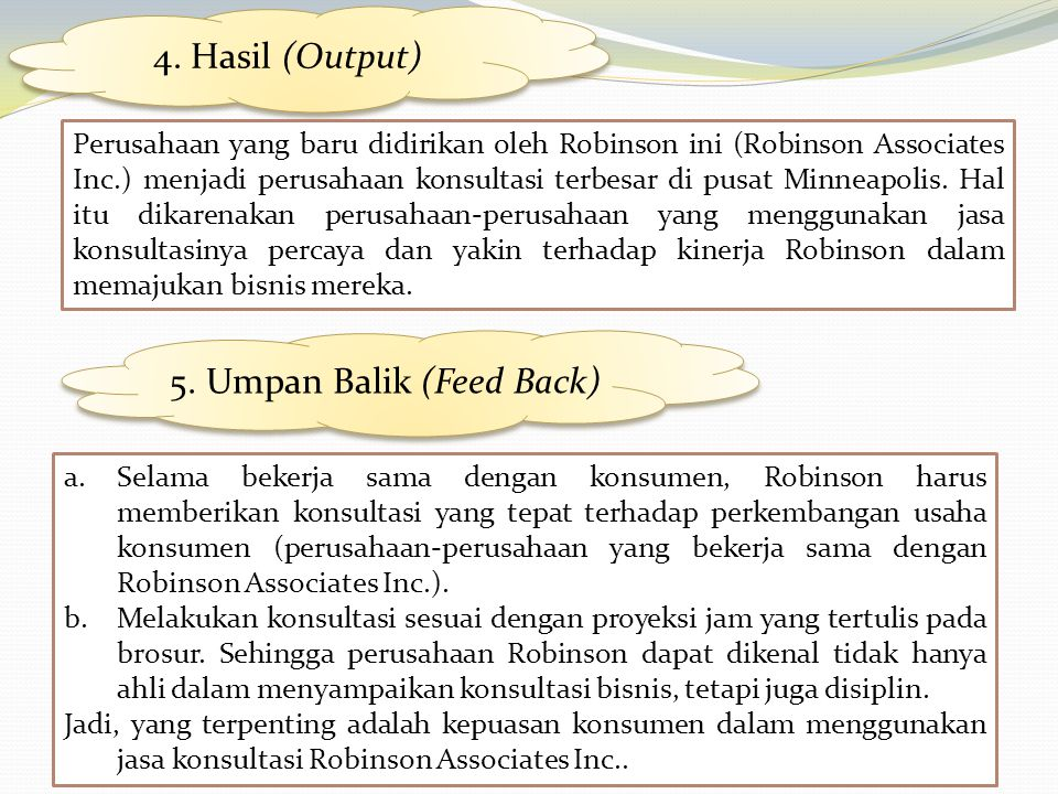 5. Umpan Balik (Feed Back)