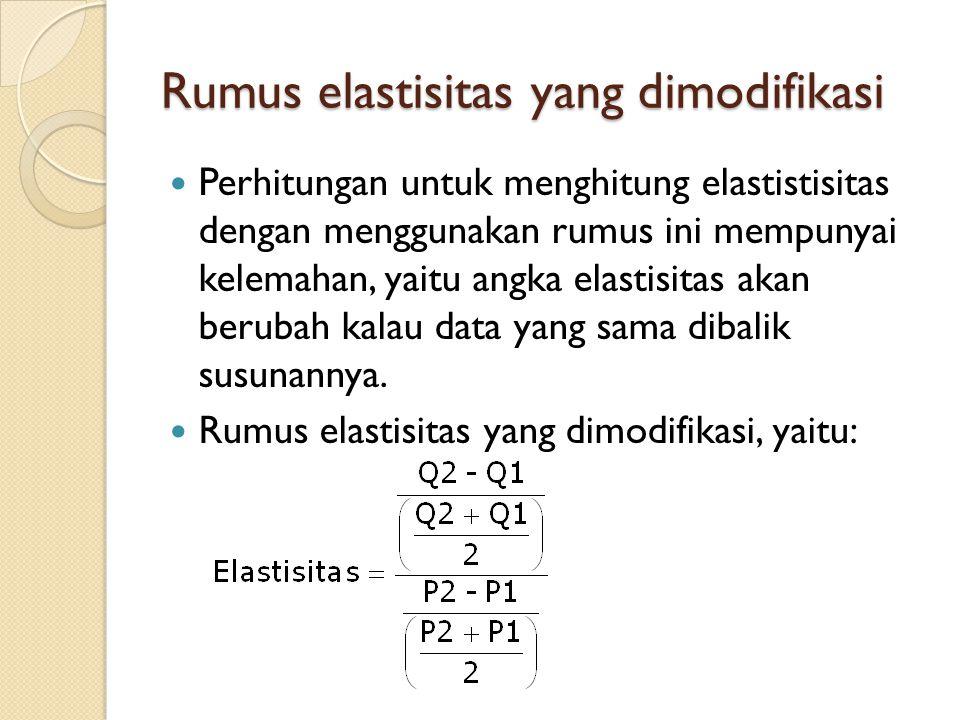 Rumus elastisitas yang dimodifikasi